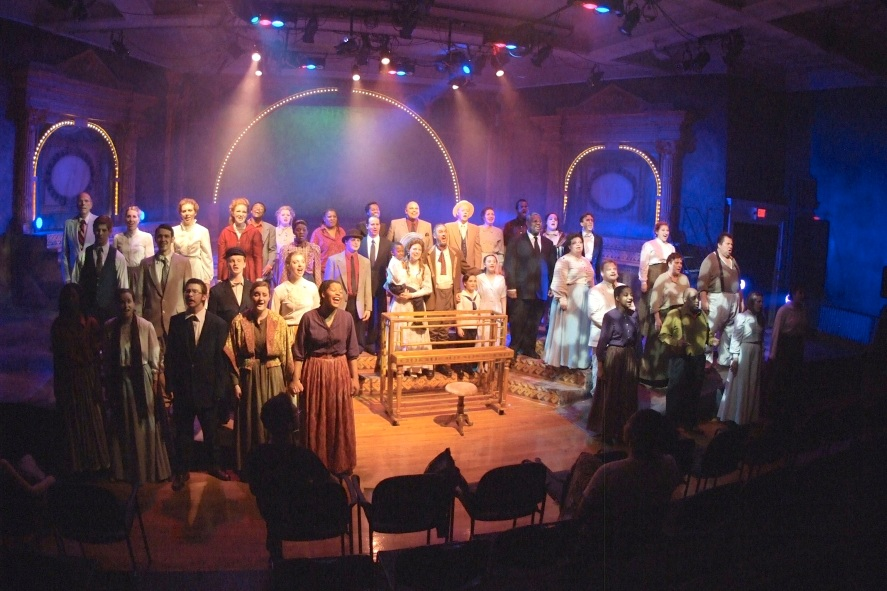 The cast of Ragtime during a May 2012 dress rehearsal. Photo by Terry Schordock.