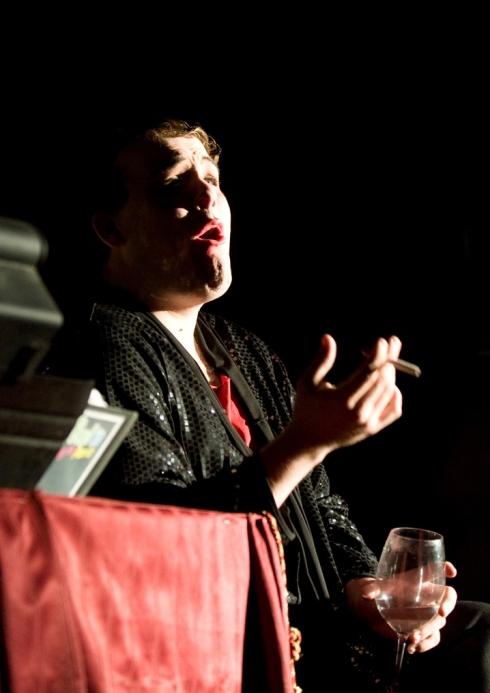 Musical director Jordan Cooper channels Edith Piaf.