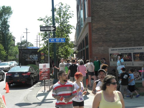 Our corner is near the center of street-festival action along Detroit Ave.