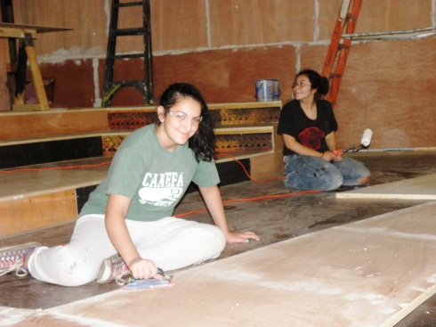Sanding and painting are just two of the skills you'll put to work in our teen summer theater tech workshop.