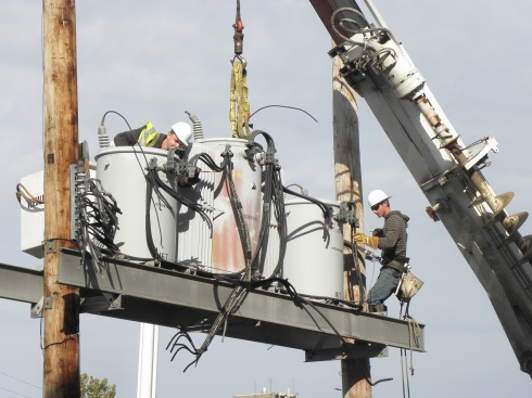 Cleveland Public Power crews had the project covered.