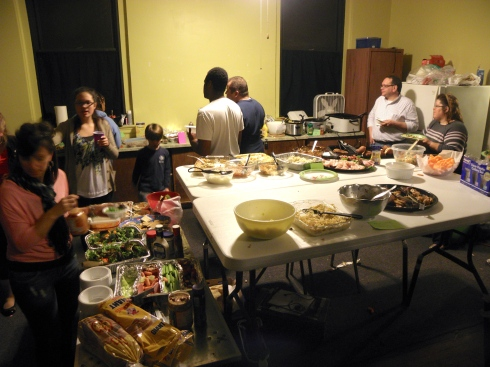 The aftermath -- with plenty of leftovers, thanks to Volunteer Coordinator Kim Flaherty and contributing cast members and families.