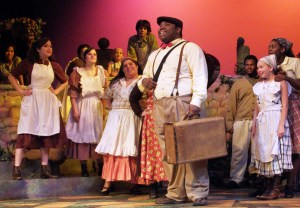 "Darius Stubbs (center) in ""Finian's Rainbow,"" 2008."