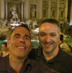 Bob Navis (left) and Tony Saar on a recent European trip