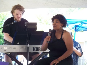 Singer Mariah Burks and accompanist Jordan Cooper, seen here in 2012, are among the performers returning to the NWT outdoor stage on June 14.