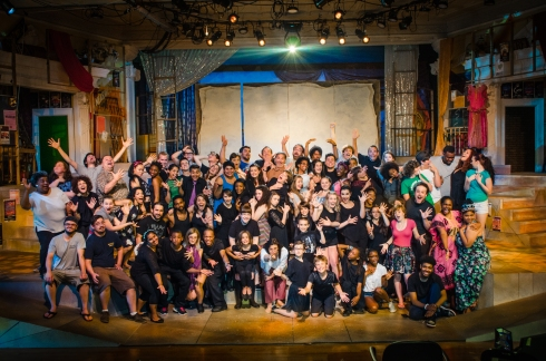 The cast, crew and staff of Move On!, pictured on June 12, 2014. Photo by Mo Eutazia
