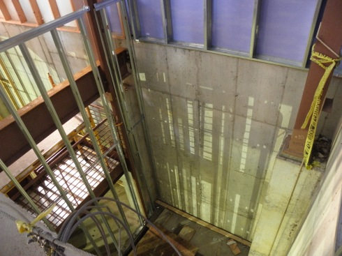 Future elevator shaft.