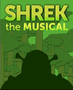 Shrek the Musical, with book and lyrics by David Limndsay-Abaire and music by Jeanine Tesori, will be onstage April 24--May 17.