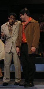 Jerome, with Doug Bailey as Franklin, in Merrily We Roll Along (2006).