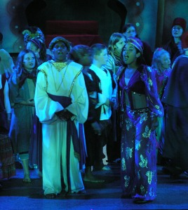 Autumn Smith (right) as Princess Jasmine in Aladdin Jr. (2006).