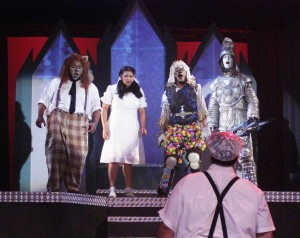 Mariah as Dorothy in The Wiz (2009) with Pat Ciamacco (foreground) and (from left) Darius Stubbs, Edwin Smith and Cory Zukoski.