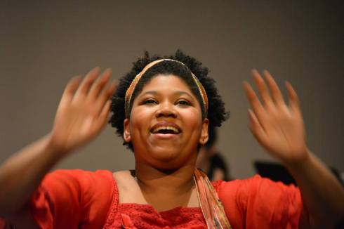 Mariah Burks during a recent benefit performance at Bowling Green State.
