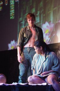 Mariah as Kim, with Michael Glavan as Chris, in Miss Saigon (2011).