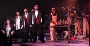 As one of the four narrators in Joseph and the Amazing Technicolor Dreamcoat (2004), with, from left Kristy Cruz, Trinidad Snider, Carlos Cruz, and Ralph Pack as Jacob