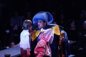 As Mr. Bumble in Oliver! (2011), with Skipper Rankin as Oliver and Gwen Stembridge as Mrs. Bumble